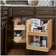 Kraftmaid Kitchen Cabinet Blind Corner Swing-out Solid Maple Wood -fits 24 Deep