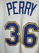 Gaylord Perry Game Worn And03982 Mariners Signed Jersey 300-win Year W/ Perry Letter