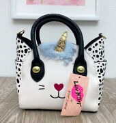 Luv Betsey Johnson Mini Satchel Unicorn Kitty Cat Crossbody Katt Lbkatt