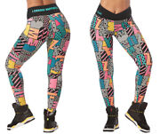 Zumba I Want My Zumba Ankle Leggings - Teal Size Large And Xxl New