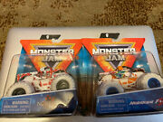 2021 Monster Jam White Tires Northern Nightmare And Hurricane Force Lot Of 2 Rare