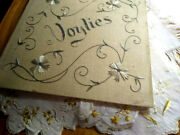 Rare Antique Society Silk 'doylies' Holder/booklet With 12 Doilies Too