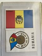 Panini Mexico 70 Romania - Flag And Shield Emblem - Excellent Condition