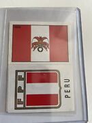 Panini Mexico 70 Peru - Flag And Shield Emblem - Excellent Condition