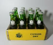 Vintage Miniature Canada Dry Bottles With Wood Crate Rare