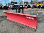 Western 8and039 Pro Snow Plow Ultra Mount Used Steel Straight Blade 3 Wire Truck
