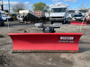 Western 8and039 Steel Straight Blade Ultra Mount Snow Plow Used Contrator Pro Plus