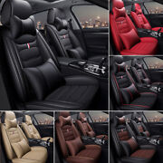 Full Set Luxury Leather Car Seat Covers Universal Front Back Cushion Protector