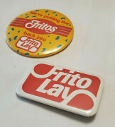 Frito Lay Vintage Collector's Button Pin Pinback Lot Of 2