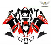 Wo Injection Red Black Fairing Fit For Kawasaki 2007 2008 Zx6r 636 Abs X028