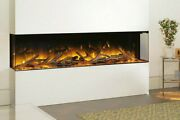 Hole In Wall Recessed Mounted Hung Electric - Flamerite Fires Glazer 1500 Nitra