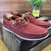 Clarks Pickwell Sail Boat Deck Suede Moccasin Shoes -casual Comfort Shoes Rrpandpound75