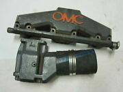 Omc Marine Exhaust Manifold 914035 And 913784 Riser Elbow For Chevy Sb V8 5.0 5.7