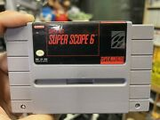 Super Scope 6 - Snes Super Nintendo Game Cart Only Tested Cleaned