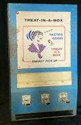 Vintage Treat In A Box Energy Pick Up 10 Cent Snack Vending Machine