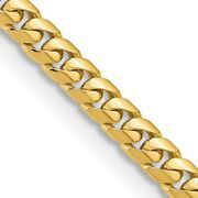 14k Yellow Gold 5.5mm Solid Miami Cuban Chain Necklace Pendant Charm Curb Domed