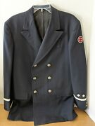Vintage 1958 American Red Cross First Aid Fire Fighter Dress Jacket 2 Bugles 42l