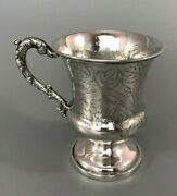 19th Century Indian Colonial Silver Mug Charles Nephew And Co C1860 175g Afhzx