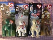 Ty Beanie Babies Extremely Rare Mcdonalds Full Set Of Four. Still In Packaging