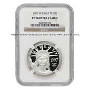 1997-w 100 Platinum Eagle Ngc Pf70ucam Ultra Cameo 1 Ounce Proof Coin .9995