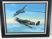Ww2 Aviation Oil Painting By Raymond Waddey 82 Signed By Ray G. Fuchs