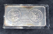 Rare 1983 Morgan Dollar Ten Troy Ounce Bar Of Silver From South East Refinery