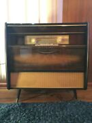 Mid Century Rare Vintage Blaupunkt Console Stereo And Record Player And Paperwork