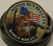 World War 1 Tribute Coin Bonds Buy Bullets Poster Colorized Kennedy Half Dollar
