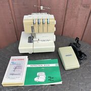 New Home My Lock Model 434d Serger Sewing Machine W/ Foot Pedal And Manuals