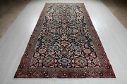 Collectible Antique Tribal Area Rug 5x10 Navy Blue Worn Carpet 10and039 5 X 5and039 2