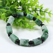 Natural And039 Aand039 Grade Emerald Green Jadeite Hand-carved Beads Catenary Bracelet