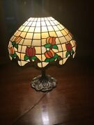 Antique Stained Glass Depression Era Style Lamp