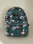 New Sold Out Le 1000 Loungefly Star Wars Floral Darth Vader Aop Mini Backpack