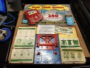 Vintage Play Your Hunch Tv Game Transogram 1960 Complete