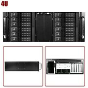 4u Rackmount Server Chassis Case 12x 3.5 Trayless Hot Swap And 2x 5.25 Drive Bay