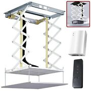 200cm Electric Motorized Projector Lift Ceiling Mount Bracket W/ Remote Control