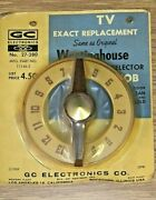 Vintage Westinghouse 11146-2 Tv Knob Channel Selector 50and039s Tan / Gold /brown Nos