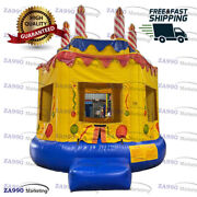 13x13ft Inflatable Birthday Bounce House Castle With Air Blower