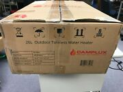 Camplux 26l 6.86 Gpm High Capacity Outdoor Tankless Propane Water Heater White
