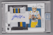 2020 Panini One Justin Herbert Rc Rookie Dual Patch Auto Rpa Card /99 33
