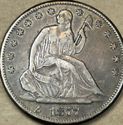 1877-s Seated Liberty Half Dollar - Very Fine