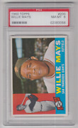 1960 Topps Willie Mays Card 200 Psa 8 Nm-mt San Francisco Giants