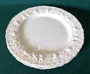10 Wedgewood Queensware White On White Shell-edged Embossed 6 Dessert Plates