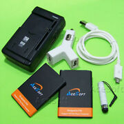 Acesoft 2x 3000mah Battery Car Charger Usb Cable For Lg Optimus Fuel L34c Phone