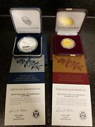End Of World War Ii 75th Anniversary American Eagle 24k Gold Coin W/silver Medal