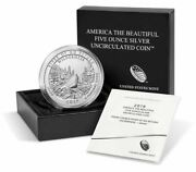 2019 Unc Five Ounce .999 Silver Coin Frank Church River Of No Return Wilderness