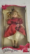 Victorian Bows Collection Porcelain Doll 1997 Red - Nib With Stand Included