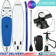 Caroma 10ft X 6 Inflatable Stand Up Surfboard Portable Anti-slip Paddle H 53