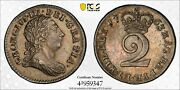 1763 Great Britain 2d Two Pence S-3756 Pcgs Ms62 Silver Coin