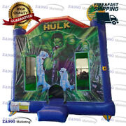 15x15ft Inflatable Hulk Superhero Bounce House With Air Blower